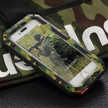 Luxury Doom Extreme Powerful Shockproof Dirtproof Waterproof Metal phone bag Case For iphone 7 5 5S SE 6 6S Plus + Gorilla glass