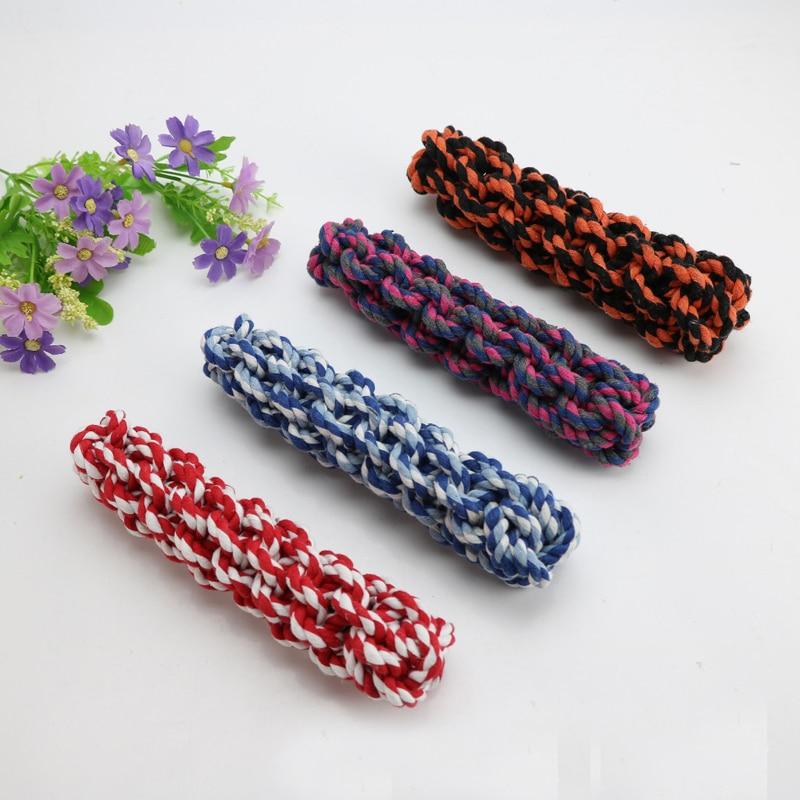 Doggyzstyle собака игрушки, игрушки кукурузы плетеные узел хлопок веревки для щенка чистки зубов жевать домашних животных