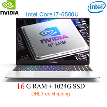 "P10-12 16G RAM 1024G SSD Intel i7-6500u 15.6 Gaming laptop 2.5GHZ-3.1GHZ NvIDIA GeForce 940M 2G with Backlit keyboard"""