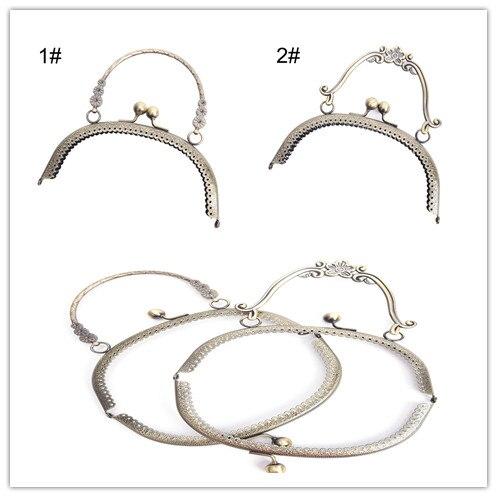 2 Size Metal Handbag Handle Frame Kiss Clasp Lock Handle Arch For DIY Purse Bag Fashion New Fashion Handle DIY Craft