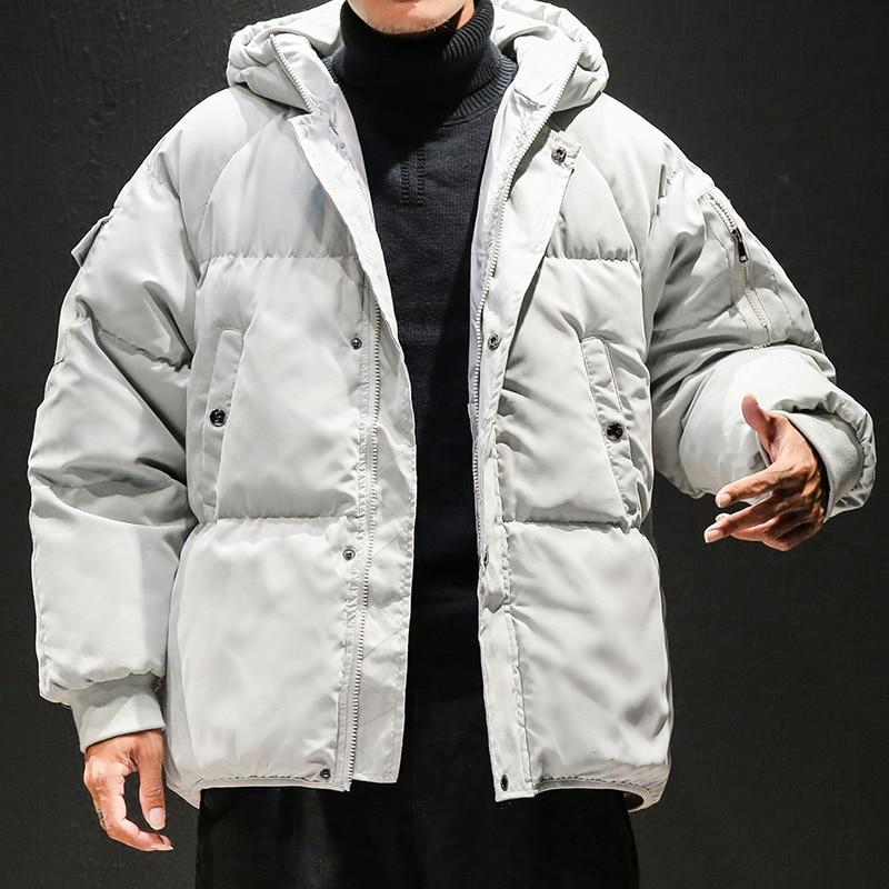 De D'hiver Court red Taille Hommes Veste À Parkas rembourré 5xl Black Chaud 3xl grey Manteau Grand Woxingwosu Capuchon Coton Coton Yards M 4xl xgv5wq50B