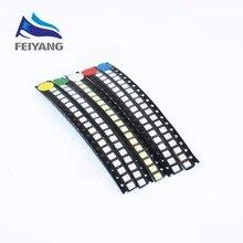 100 шт. супер яркий 3528 1210 SMD LED красный/зеленый/синий/желтый/белый/теплый белый/УФ/Голубой светодиод 3,5*2,8*1,9 мм