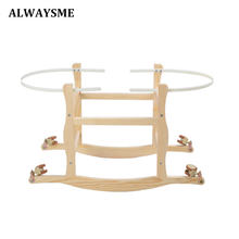 ALWAYSME Wooden Baby Kids Boy Girl Cradle Bassinet Hand Basket Support Bracket Mount Stand Holder Trestle Metal Cradle Bracket(China)