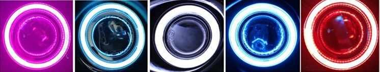 DRL COB Ангел глаз (6 видов цветов) + объектив проектора + H3 противотуманная галоген + противотуманных фар крышки для Nissan Sylphy sentra 2012-14