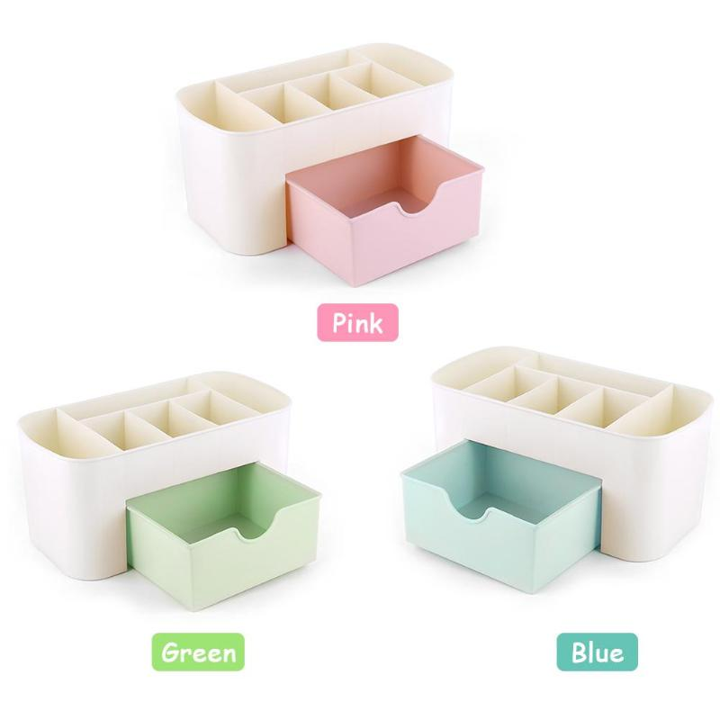 1set Cosmetic Storage Box Multi-function Cosmetic Storage Box Drawer Desktop Jewelry Nail Organizer