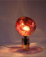 Phube Lighting Melt Table Lamp Glass Lava Irregular Desk Lamp Living Room Bedroom Lamps Restaurant Home Lighting