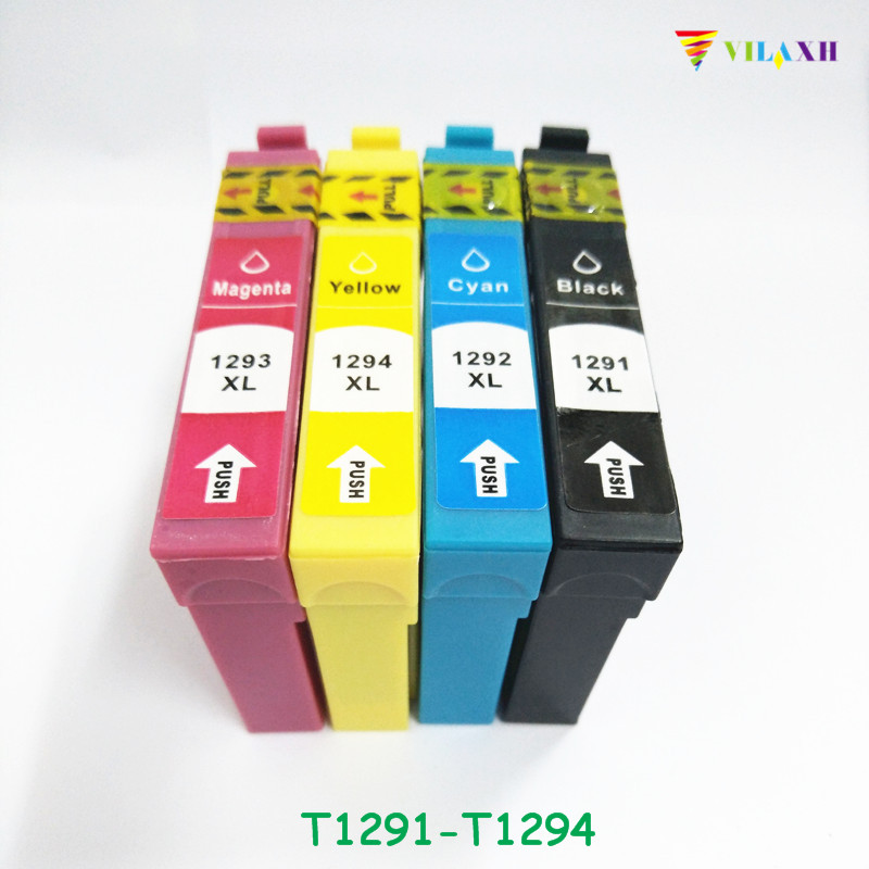 1Set For Epson T1291 T1292 T1293 T1294 Ink cartridge Stylus SX230 SX235W SX420W SX425W SX430W SX435W SX440W SX445W