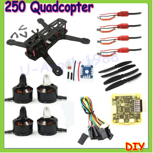 Mini 250 H250 Carbon Fiber Frame 1806 2280 Brushless Motor 12A ESC CC3D Control Board 5030 Propeller For QAV250 Quadcopter DIY diy h250 quadcopter frame kit fpv mini drone qav250 pure carbon frame cc3d 2204 2300kv motor simon k 12a esc 5045 prop