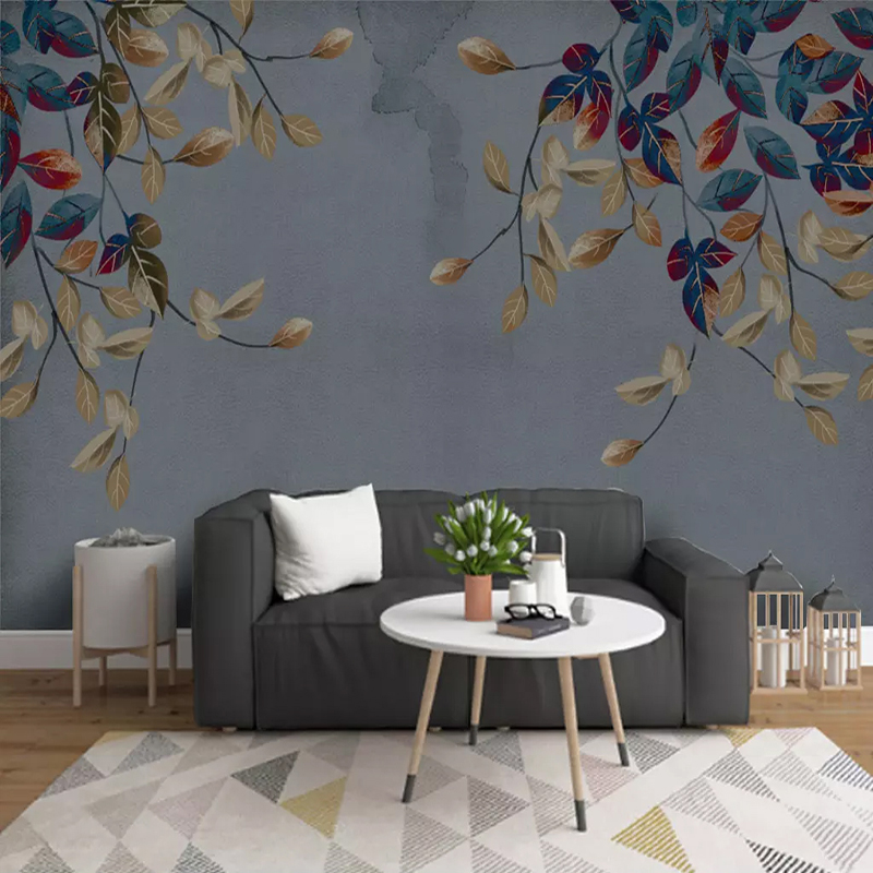 Modern Abstract Leaf Photo Wallpaper 3D Hand Painted Art Murals Living Room TV Sofa Bedroom Study Room Home Decor Wall Papers 3D