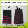 10 unids color Blanco Sin Píxeles Muertos Grado AAA 4.7 pulgadas LCD digizel pantalla táctil digitalizador lcd asamblea completa para el iphone 6