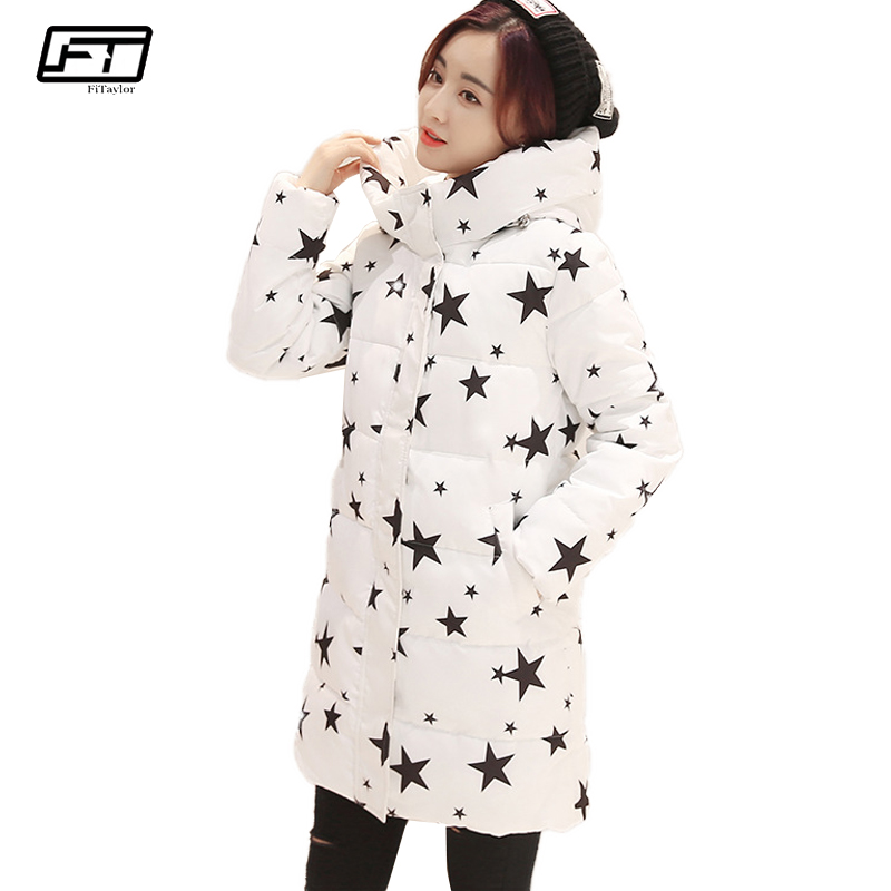 Fitaylor Winter Thick Long Paragraph Warm Jacket Women Coat 2017 Fashion Hooded Parka Cotton Padded Coats Womens Down Jackets 2017 winter jacket women hooded slim x long paragraph camouflage coat thick warm down padded female maxi cotton jacket qh0625