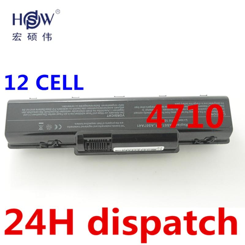HSW 12CELL Laptop Battery for Acer Aspire 4710 4720 5335Z 5338  5536 5542 5542G 5734Z 5735 5735Z 5740G 7715Z 5737Z