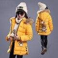 Детская одежда девушки зимой хлопок-мягкие одежды пальто большой мальчик с толстый зимний хлопка-ватник детей зимняя куртка
