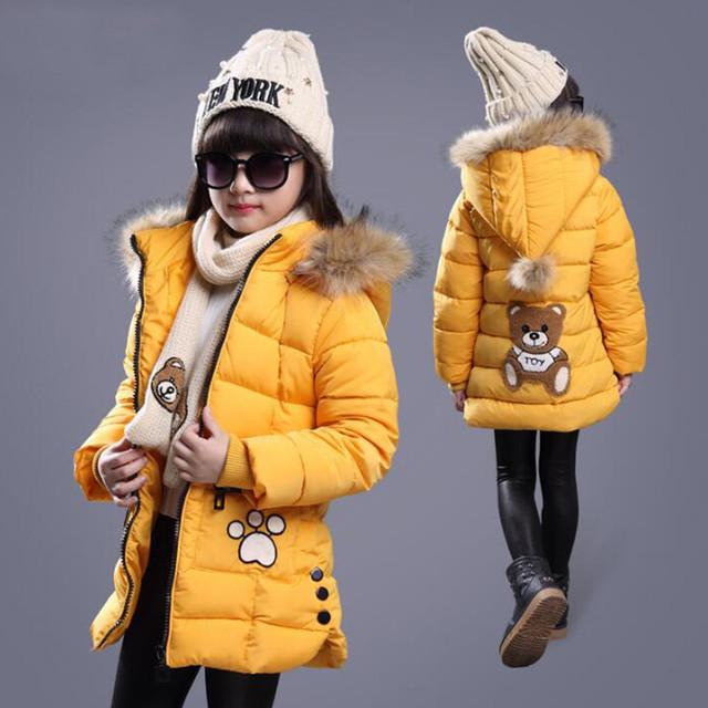 Roupas meninas das crianças de inverno de algodão-roupas casaco de algodão acolchoado grande menino com espessura-inverno de algodão acolchoado jaqueta de crianças jaqueta de inverno