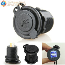 Waterproof Dual USB Motorcycle Car Charger Power Adapter Cigarette Lighter Socket for Mobile Phones GPS Camera MP3