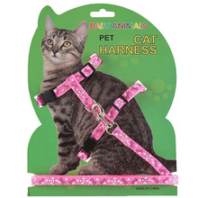Nylon Harness For a Cat Accesories Pet Cat Collar Harness And Leash Adjustable Cat Traction Harness Belt Kitten Supply 4 Colors