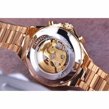 Winner Mechanical Sport Design Bezel Golden Watch Mens Watches Top Brand Luxury Montre Homme Clock Men Automatic Skeleton Watch 5