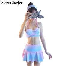Shell Bikini 2019 Mermaid Bikini Top Biquini Sereia Pearl Push Up Swimwear Swimsuit Swimming Suit For Women Bathing Suit Tankini