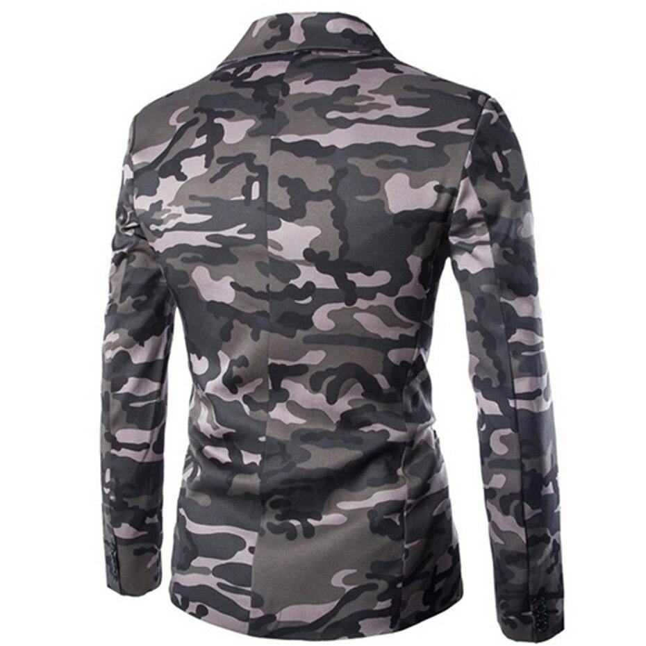 Zogaa Men's Blazer Camouflage Men Slim Fit Single-breasted Male Suit Jacket Singer Hombre Blazer Casual Coats Masculino Blazers