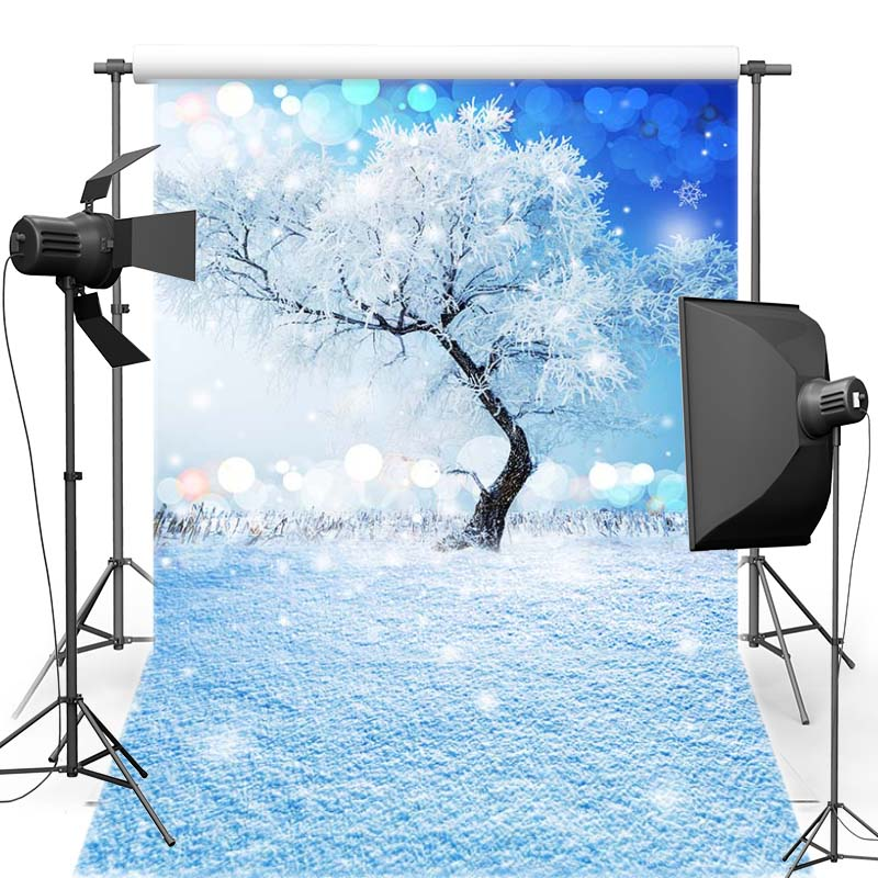 MEHOFOTO New Year Christmas Vinyl Photography Background For Baby Snowscape New Fabric Flannel Backdrop For Photo Shoot 6398
