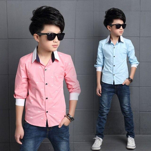 Chicos camisetas de algodón camisa del uniforme escolar 2017 marca moda  niños clothing alta calidad camisas 0ba88342be011