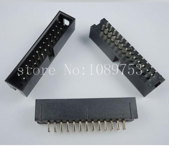 20pcs IDC Box header DC3 DC3-26P 2x13 pins 26P 2.54mm Pitch