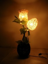 2014 rushed new arrival incandescent bulbs ccc ce e14 rustic rattan floor lamp ,rattan table light,handmade lamp.free shopping