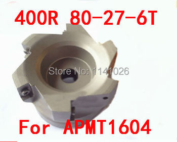 Free Shopping BAP 400R 80-27-6T 90 Degree Right Angle Shoulder Face Mill Head,CNC Milling Cutter, For APMT1604