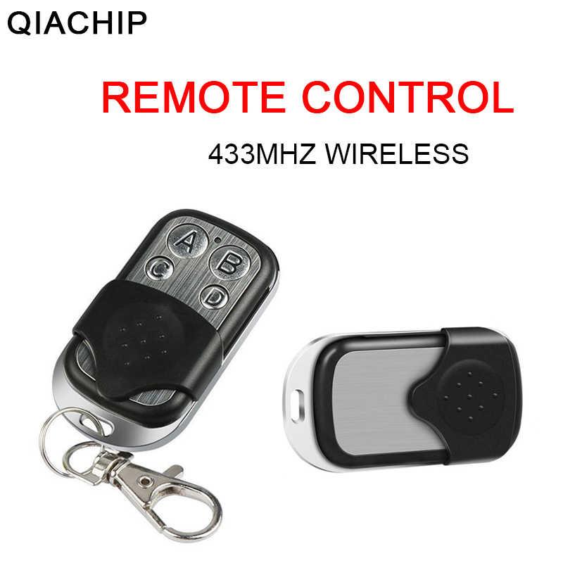 QIACHIP 433Mhz العالمي لاسلكي للتحكم عن بعد التبديل تيار مستمر 12 فولت 4 زر التعلم رمز RF الارسال لباب المرآب بوابة عن بعد