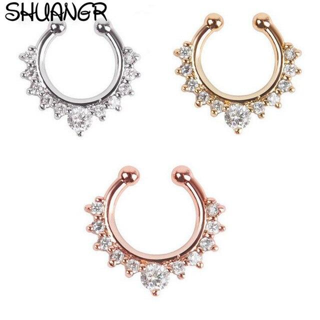 Фото shuangr хрустальное модное поддельное украшение перегородки