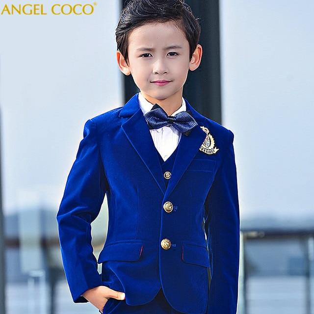 309c40dfa9a57 Veste en velours pour enfants garçons costumes pour les mariages automne  hiver épaississement Costume Enfant Garcon