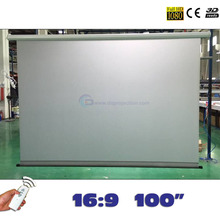 Projection-Screen Proyeccion Motorized 100-Inches Rear Pantalla for LED LCD HD 16:9