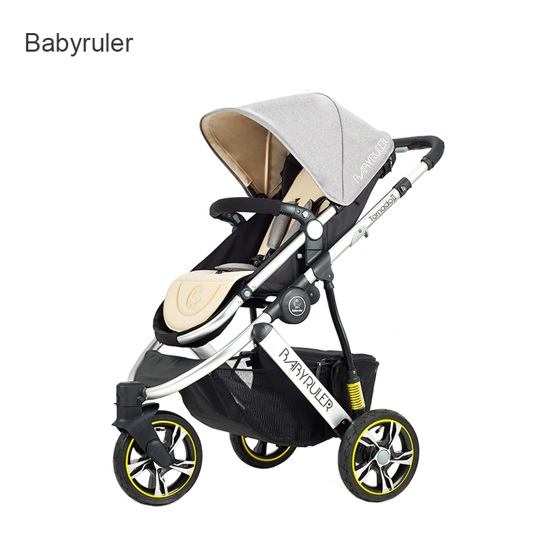 2017 new high-end baby carriage babyruler baby stroller portable shock absorber 175 degrees BB trolley 2017 new babyruler high end baby carriage light portable baby stroller