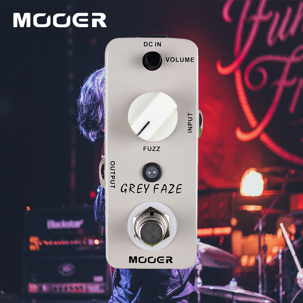 mooer grey faze fuzz a smooth vintage sound guitar effects pedal true bypass in guitar parts. Black Bedroom Furniture Sets. Home Design Ideas