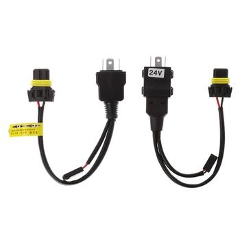 Szelki przekaźnikowe przewód sterowniczy do kontrolera okablowania H4 Hi Lo bi-ksenonowe żarówki HID tanie i dobre opinie CN (pochodzenie) other Drut miedziany 12V 24V Black Like the picture show 1 PC