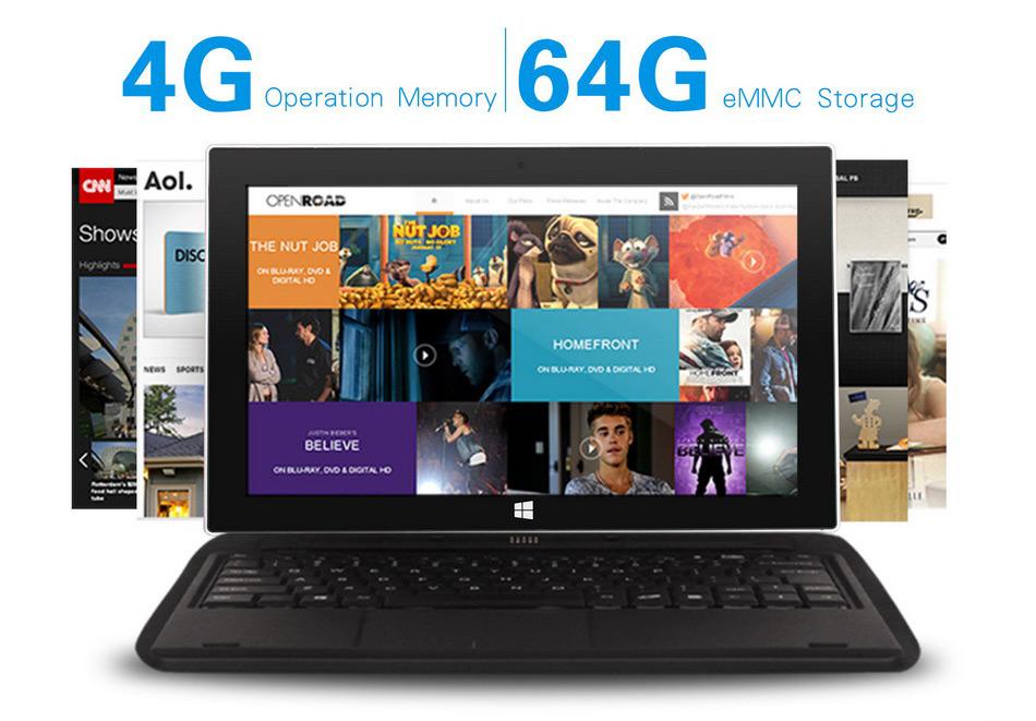 Jumper EZpad 5SE tablet PC 10.6\'\' Windows 10 IPS 1920 x1080 Intel Cherry Trail Z8300 4GB 64GB HDMI BT WiFi windows tablet laptop (7)