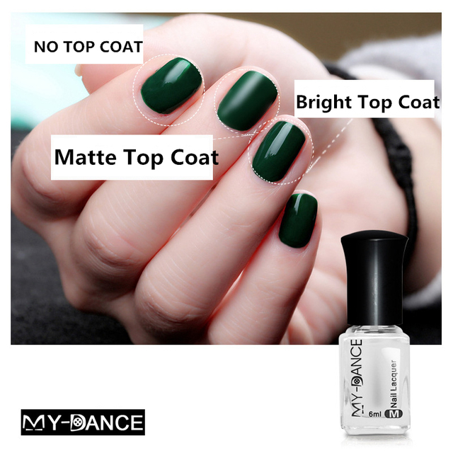 MYDANCE 1 Botella de 6 ml de esmalte de Uñas Mate y Brillante Capa ...