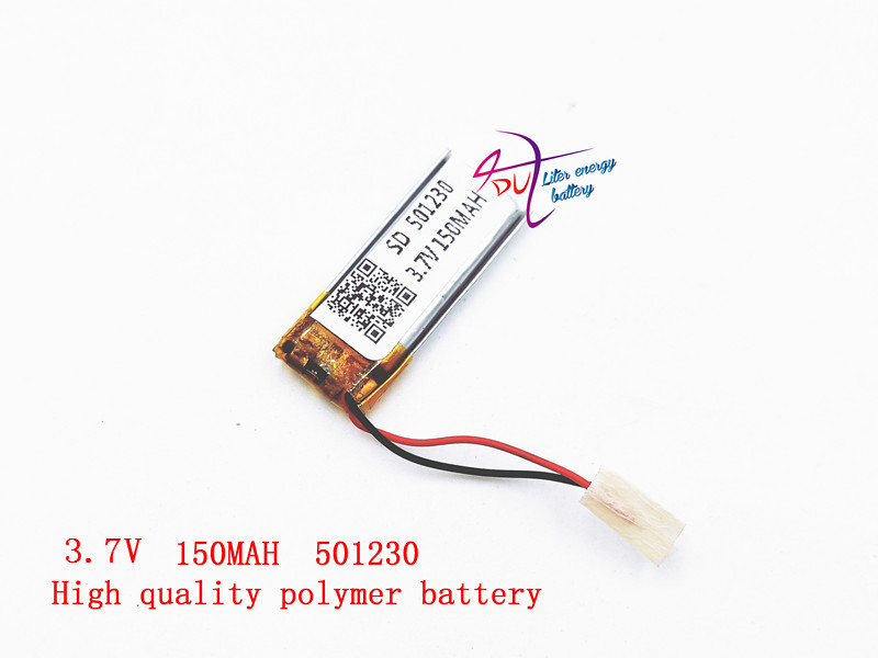 Liter energy battery 3.7v polymer lithium battery 501230 150MAH general remote control bluetooth battery wireless mouse polymer lithium battery electric gun water gun with remote control car 7 4v 1800mah lithium battery accessories customized toys