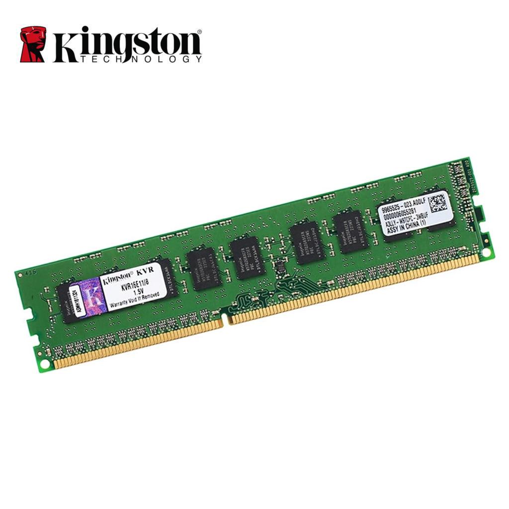 цена на Kingston 1600MHz DDR3 ECC CL11 DIMM 8GB Unbuffere Desktop Ram 72-Bit PC3-12800 server memory ram