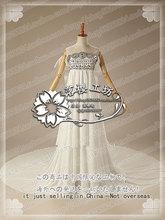 Сейлор мун принцесса усаги цукино белые роскошные шифон party dress хэллоуин косплей костюм равномерное наряд на заказ