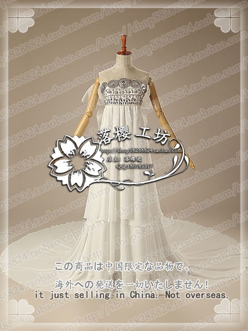 Sailor Moon Princess Tsukino Usagi White Luxury Chiffon Party Dress Halloween Cosplay Costume Uniform Outfit Custom made