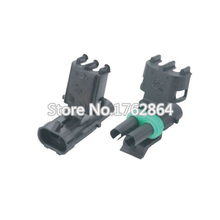 50 Set 2 Pin  DJ3021-2.5-11/21 Female Male Weather Pack Electrical Wire 2.5 Connector Plug Sealed Wiring Automobile Connectors