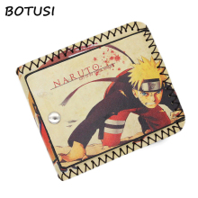 цены BOTUSI Cartoon Men Wallet Anime Student Purse Naruto PU Short Wallet New Fashion Male Purse Credit Card Holder Gift Man Women