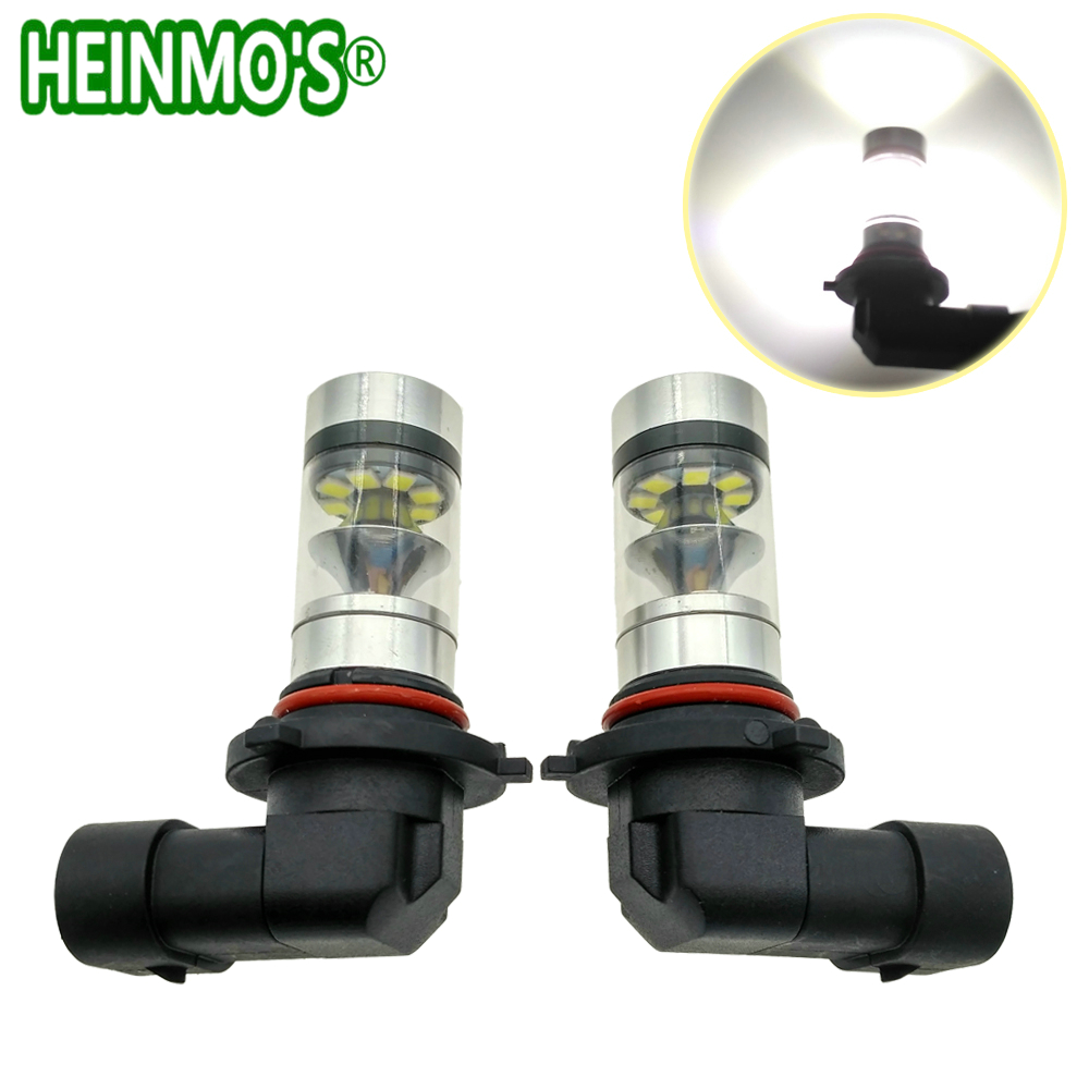 2pcs LED Headlight 9005 HB3 Fog Light Bulbs HB4 9006 H11 H8 Car Daytime Running Lights Auto DRL Driving Lamp 12V 24V 6000K H7 H1 new arrival 20w 2500lm epistar cob chip h1 led head lights bulb 12v 24v auto car daytime running light headlights 6000k white