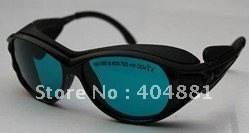 190-380 & 600-760nm laser safety goggle O.D 4+ CE certified high VLT% 10pcs 190 380