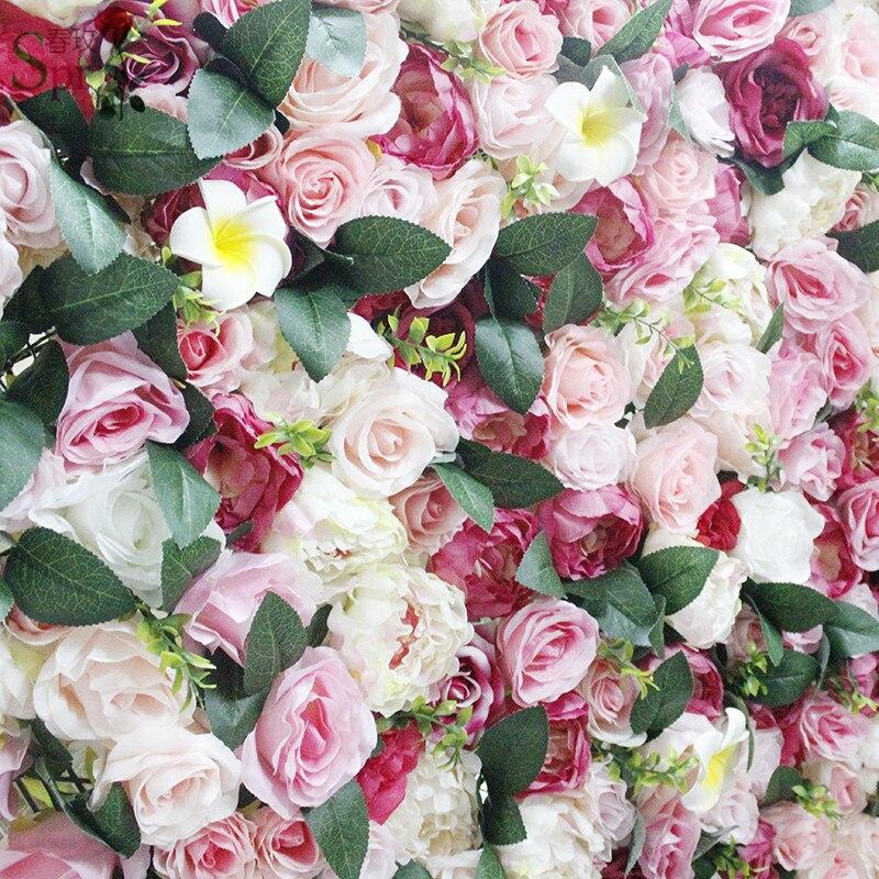 SPR 2018 neue ankunft Künstliche rose Hydrangea blume wand hochzeit dekorationen hintergrund tischläufer markt flore