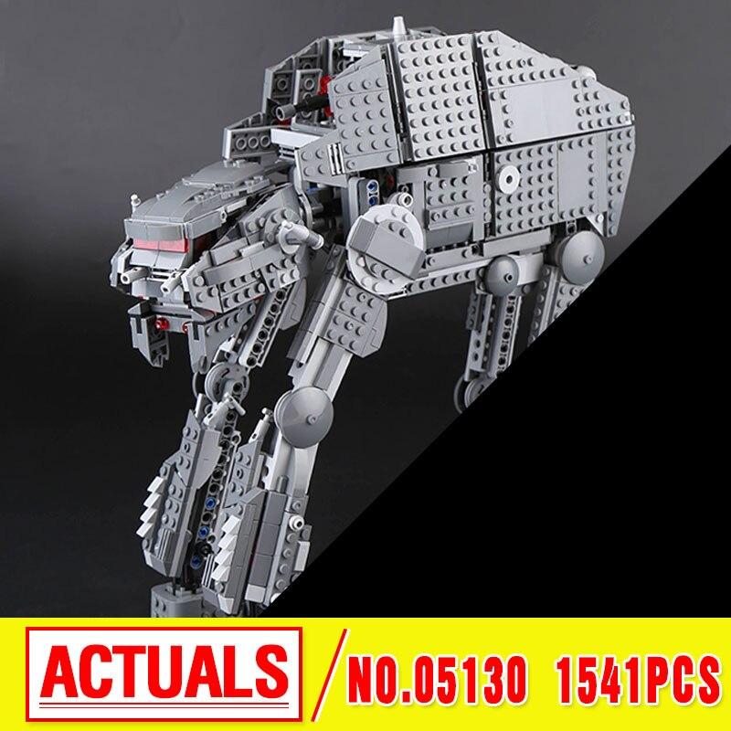 Lepin 05130 The First order heavy assault walker Set 1541Pcs Star Plan Series Building Blocks Bricks Wars Christmas Gifts 75189 конструктор lepin star plan истребитель набу 187 дет 05060