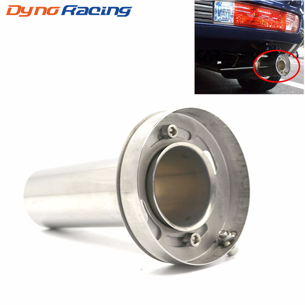 "Universal Adjustable 85mm 3.5"" /98mm  4'' /110mm 4.5'' Car Stainless Chrome Exhaust Muffler Silencer YC101073"