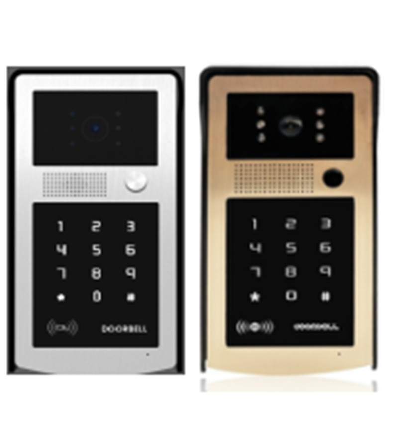700TVL HD ID Card /Password /ID Card+Password Door Access Control For Wired Video Door Phone 7 inch password id card video door phone home access control system wired video intercome door bell