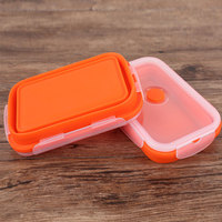 2017 Hot Silicone Collapsible Portable Bento Box Bowl Lunch Bento Boxes Folding Food Container Lunchbox